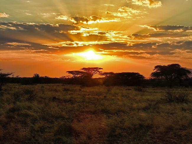 Sunrise over Samburu Game Preserve, Kenya