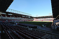 Pictured: Interior view of Boleyn Ground. 01 February 2014<br />