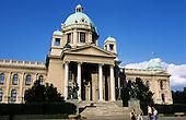 Belgrade, Serbia, Yugoslavia. The building of the Federal Parliament of Yugoslavia.