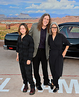 """LOS ANGELES, USA. October 08, 2019: Nina Yankovic, Weird Al Yankovic & Suzanne Yankovic at the premiere of """"El Camino: A Breaking Bad Movie"""" at the Regency Village Theatre.<br /> Picture: Paul Smith/Featureflash"""