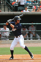 Charleston Riverdogs right fielder Robert Refsnyder #21 at bat during a game against the Greenville Drive at Joseph P. Riley Jr. Park on July 17, 2012 in Charleston, South Carolina. Charleston defeated Greenville by the score of 5-0. (Robert Gurganus/Four Seam Images)