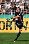 10.08.2019, Donaustadion, Ulm, GER, DFB Pokal, SSV Ulm 1846 Fussball vs 1. FC Heidenheim, <br /> DFL REGULATIONS PROHIBIT ANY USE OF PHOTOGRAPHS AS IMAGE SEQUENCES AND/OR QUASI-VIDEO, <br /> im Bild Christian Ortag (Ulm, #39)<br /> <br /> Foto © nordphoto / Hafner