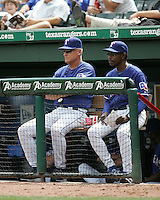 Seattle Mariners  Manager Ron Washington against the Texas Rangers on May 14th, 2008 at Texas Rangers Ball Park. Photo by Andrew Woolley .