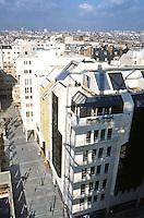 Paris: Beaubourg Quarter, renewal. From Centre Pompidou roof.