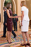 "Queen Letizia of Spain during Royal Audience with a representation of the organizers of the X edition of the international awards ""YO DONA"" at Zarzuela Palace in Madrid, October 30, 2015.<br /> (ALTERPHOTOS/BorjaB.Hojas)"