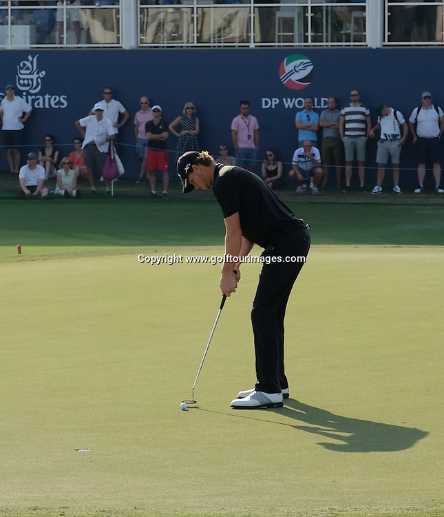 Thomas PIETERS (BEL) during round one of the 2016 DP World Tour Championships played over the Earth Course at Jumeirah Golf Estates, Dubai, UAE: Picture Stuart Adams, www.golftourimages.com: 11/17/16