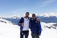 CRANS-MONTANA, SWITZERLAND - MAY 28: Sebastian Lletget, Byron Patterson at Pointe de la Plaine Morte on May 28, 2021 in Crans-Montana, Switzerland.