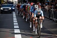 Remco Evenepoel (BEL/Deceuninck-Quick Step) leading the way <br /> <br /> Elite Men World Championships - Road Race<br /> from Antwerp to Leuven (268.3km)<br /> <br /> UCI Road World Championships - Flanders Belgium 2021<br /> <br /> ©kramon