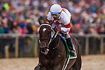 BALTIMORE, MD - MAY 19: Ricardo Santana Jr. guides Mitole #5 to a victory in the Chick Lang Stakes at Pimlico Racecourse on May 19, 2018 in Baltimore, Maryland. (Photo by Alex Evers/Eclipse Sportswire/Getty Images)