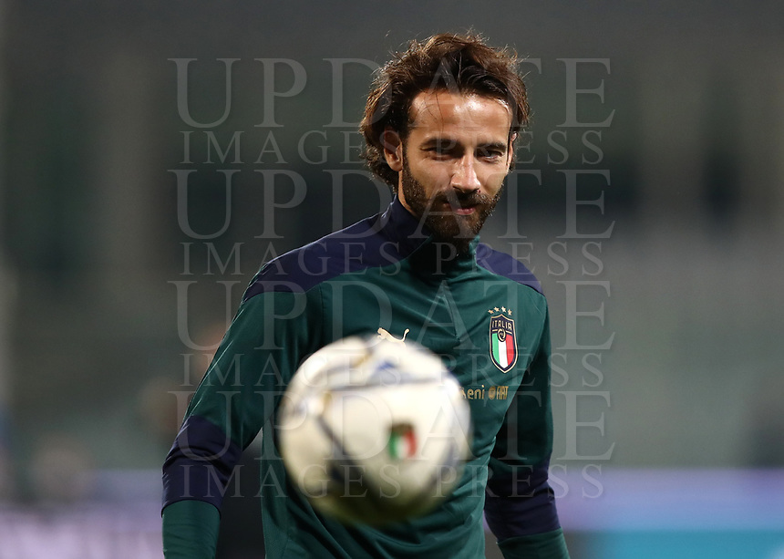 FBL- Friendly football match Italy vs Estonia at the Artemio Franchi stadium in Florence on November 11, 2020.<br />  Italy's Gian Marco Ferrari warms up during the friendly football match between Italy snd Estonia at the Artemio Franchi stadium in Florence on November 11, 2020. UPDATE IMAGES PRESS/Isabella Bonotto