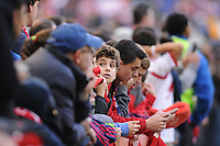 HARRISON, NJ - Sunday November 23, 2014: The New York Red Bulls lose 2-1 to the New England Revolution at Red Bull Arena in the first leg of the Eastern Conference Finals of the MLS Cup Playoffs.
