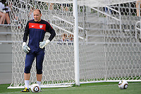 Goalkeeper Brad Guzan during the U. S. men's national team practice at Princeton University in Princeton, NJ, on May 22, 2010.