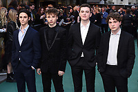 """Adam Bregman, Ty Tennant, Harry Gilby and Albie Marber<br /> arriving for the """"TOLKIEN"""" premiere at the Curzon Mayfair, London<br /> <br /> ©Ash Knotek  D3499  29/04/2019"""