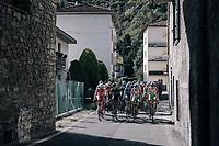 peloton up the first climb of the day: the Colle Gallo (763m)<br /> <br /> Il Lombardia 2017<br /> Bergamo to Como (ITA) 247km