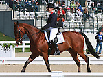 28 April 2011. Kings Temptress and Mary King from Great Britain finish the first day of Dressage in second place.