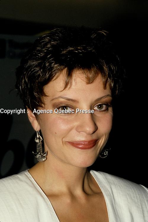 FILE -Anne Letourneau<br /> au Festival des films du Monde, le 27 aout 1986