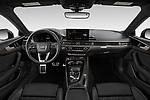 Stock photo of straight dashboard view of 2021 Audi S5-Sportback Premium-Plus 5 Door Hatchback Dashboard