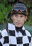 10 April 10: Jockey Glen Murphy on Arkansas Derby Day at Oaklawn Park in Hot Springs, Arkansas.
