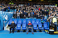(L-R) Swansea manager Carlos Carvalhal and goalkeeping coach Tony Roberts sit in the away dug out during The Emirates FA Cup Fifth Round match between Sheffield Wednesday and Swansea City at Hillsborough, Sheffield, England, UK. Saturday 17 February 2018
