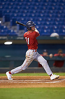 Anthony Migliaccio (31) of Detroit Country Day School in Wyandotte, MI playing for the Cincinnati Reds scout team during the East Coast Pro Showcase at the Hoover Met Complex on August 2, 2020 in Hoover, AL. (Brian Westerholt/Four Seam Images)