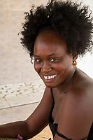 Senegal, Touba.  Senegalese Woman.