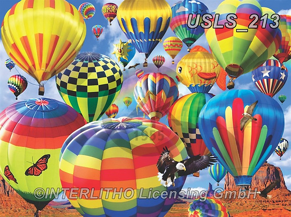 Lori, LANDSCAPES, LANDSCHAFTEN, PAISAJES, paintings+++++Hot Air Balloon Day_5_12in_72,USLS213,#l#, EVERYDAY ,puzzle,puzzles