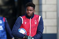 Brice Samba of Nottingham Forest coming out to warm up during Millwall vs Nottingham Forest, Sky Bet EFL Championship Football at The Den on 19th December 2020