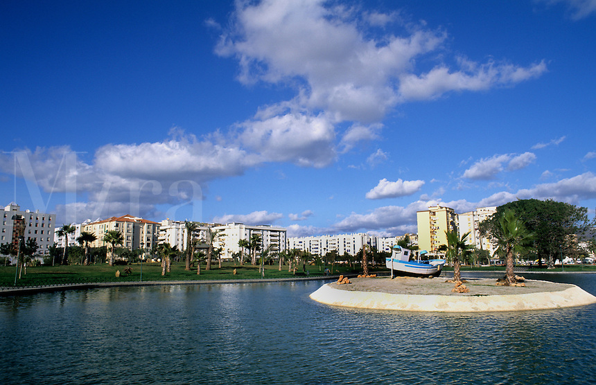 Costa del Sol. Huelin Gardens apartments in city of Malaga, Spain