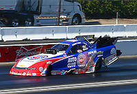 Feb 8, 2015; Pomona, CA, USA; NHRA funny car driver Robert Hight during the Winternationals at Auto Club Raceway at Pomona. Mandatory Credit: Mark J. Rebilas-