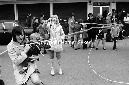 Shrove Tuesday  Skipping, Scarborough, Yorkshire, England 1974