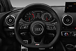 Car pictures of steering wheel view of a 2017 Audi A3 S-Line 4 Door Sedan Steering Wheel