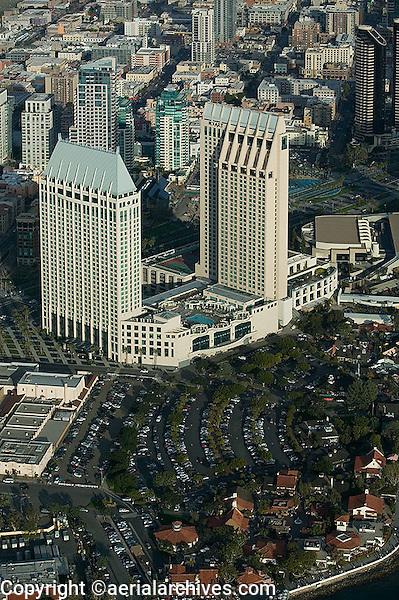 aerial photograph of the Hotel Manchester Grand Hyatt, San Diego, California