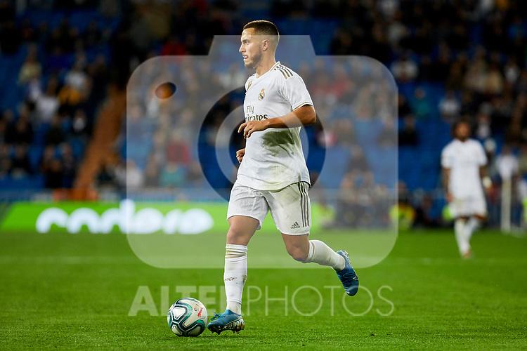 Eden Hazard of Real Madrid during La Liga match between Real Madrid and CD Leganes at Santiago Bernabeu Stadium in Madrid, Spain. October 30, 2019. (ALTERPHOTOS/A. Perez Meca)