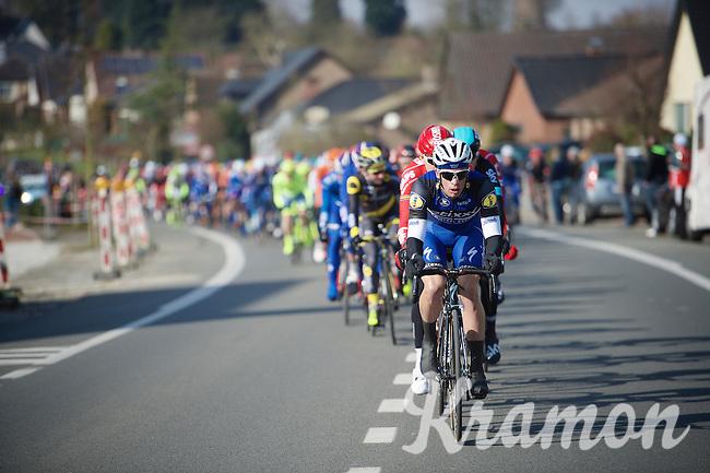 ALWAYS to be found leading the bunch in the first 100km of a race: Iljo Keisse (BEL/Etixx-QuickStep)<br /> <br /> 71st Omloop Het Nieuwsblad 2016
