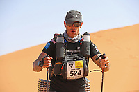 5th October 2021; Kourci Dial Zaid to Jebel El Mraier ; James Bull (gbr) Marathon des Sables, stage 3 of  a six-day, 251 km ultramarathon, which is approximately the distance of six regular marathons. The longest single stage is 91 km long. This multiday race is held every year in southern Morocco, in the Sahara Desert.