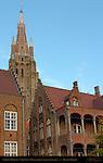 St. John's Hospital, Sint-Janshospitaal, Onze-Lieve-Vrouwkerk Church of Our Lady Tower, Bruges, Brugge, Belgium