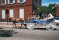 Tourists in horse carriage, Philadelphia, Pennsylvania