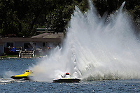 """(L to R): Kevin Lacey, GNH-52 """"Wanna Bee"""" and Cal Phipps, GNH-41  (Grand National Hydroplane(s)"""