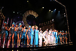 Teal Wicks, Stephanie J. Block and Micaela Diamond with the cast during the Pre-Broadway Premiere Opening Night Curtain Call for 'The Cher Show' at the Oriental Theatre on June 28, 2018 in Chicago.