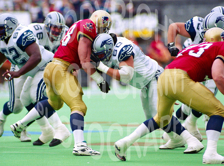 Guy Earle Baltimore Stallions 1994. Photo John Bradley