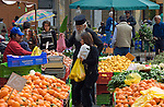 CYPRUS, capital Nicosia (Lefkosia): market, priest shopping<br />