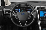 Car pictures of steering wheel view of a 2019 Ford Fusion-Hybrid SEL 4 Door Sedan Steering Wheel