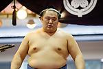 Tamawashi, <br /> APRIL 17, 2017 - Sumo : Yasukuni Shrine Honozumo is a ceremonial annual sumo tournament held in the precincts of the Yasukuni Shrine in Tokyo, Japan. (Photo by Yohei Osada/AFLO SPORT)
