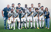 Carson, CA - Saturday August 12, 2017: Los Angeles Galaxy starting eleven during a Major League Soccer (MLS) game between the Los Angeles Galaxy and the New York City FC at StubHub Center.