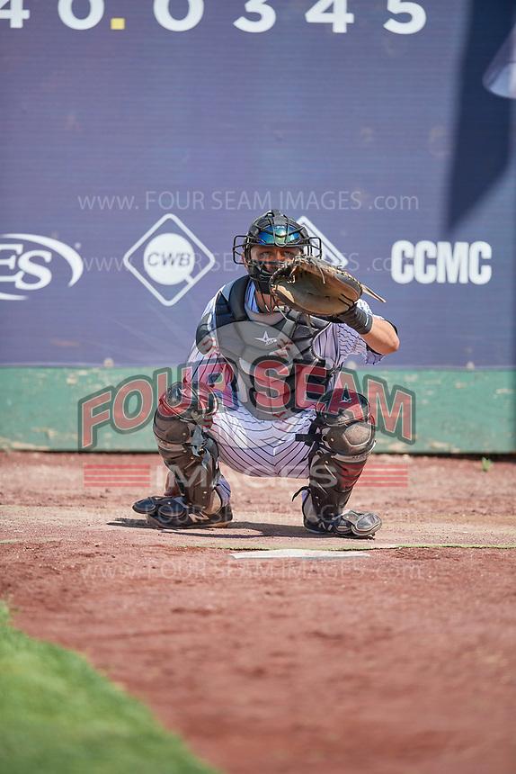 Wyatt Mascarella (25) of the Idaho Falls Chukars before the game against the Orem Owlz at Melaleuca Field on July 14, 2019 in Idaho Falls, Idaho. The Owlz defeated the Chukars 6-2. (Stephen Smith/Four Seam Images)