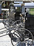 """Buggy's parked in Pennsylvania Dutch Country Amish Country in Lancaster County PA, Pennsylvania Dutch in Amish Country Lancaster County Pennsylvania, Amish, Horse and buggy with amish family on backroads of Pennsylvainia, buggy, amish family, buggy and horse, Commonwealth of Pennsylvania, Commonwealth of Pennsylvania, natives, Northeasterners, Middle Atlantic region, Philadelphia, Keystone State, 1802, Thirteen Colonies, Declaration of Independence, State of Independence, Liberty, Conestoga wagons, Quaker Province, Founding Fathers, 1774, Constitution written, Photography history, Fine art by Ron Bennett Photography.com, Stock Photography, Fine art Photography and Stock Photography by Ronald T. Bennett Photography ©, All rights reserved copyright Ron Bennett Photography.Com, FINE ART and STOCK PHOTOGRAPHY FOR SALE, CLICK ON  """"ADD TO CART"""" FOR PRICING,"""