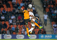 Jean Akpa-Akpro of Barnet & Leroy Fer of Swansea City during the 2017/18 Pre Season Friendly match between Barnet and Swansea City at The Hive, London, England on 12 July 2017. Photo by Andy Rowland.