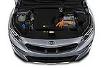 Car Stock 2020 KIA XCeed-PHEV Business-Line 5 Door SUV Engine  high angle detail view