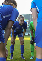 xxx pictured during the huddle before a female soccer game between Eendracht Aalst and Racing Genk on the fifth matchday of the 2020 - 2021 season of Belgian Scooore Womens Super League , Saturday 28 th of November 2020  in Aalst , Belgium . PHOTO SPORTPIX.BE | SPP | SEVIL OKTEM