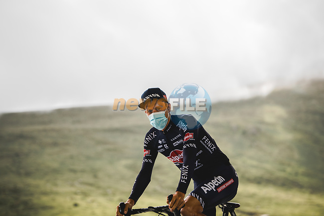 Xandro Meurisse (BEL) Alpecin-Fenix at sign on before Stage 16 of the 2021 Tour de France, running 169km from Pas de la Case to Saint-Gaudens, France. 13th July 2021.  <br /> Picture: A.S.O./Pauline Ballet | Cyclefile<br /> <br /> All photos usage must carry mandatory copyright credit (© Cyclefile | A.S.O./Pauline Ballet)